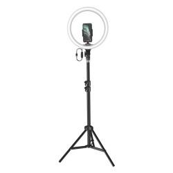 Кольцевая LED-лампа для селфи с подставкой Baseus Live Stream Holder-floor Stand (12 дюймов) Black