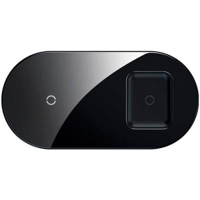 Беспроводное зарядное устройство Baseus Simple 2in1 (для iPhone, AirPods) 18W MAX Black