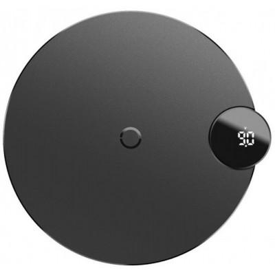 Беспроводная зарядка Baseus Digtal LED Display Wireless Charger Black