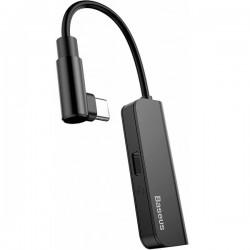 Переходник Baseus L53 Type-C to Type-C+3.5mm Charging and Audio Adapter Black