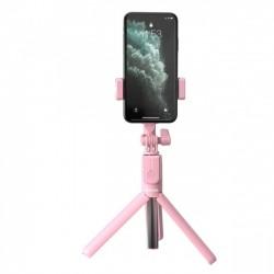 Беспроводной монопод-трипод Baseus Lovely Bluetooth Bracket Pink