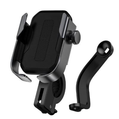 Держатель телефона на руль велосипеда или мотоцикла Baseus Armor Motorcycle holder Black