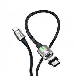 Магнитный кабель с оплеткой Baseus Zinc Magnetic Cable Type-C to Type-C (100W, 20V, 5A) 1.2m Black
