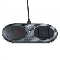 Беспроводное зарядное устройство Baseus Smart 2in1 Wireless Charger Turbo Edition 24W Black