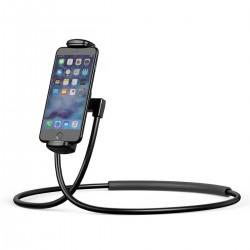 Универсальный держатель для смартфона на шею Baseus Necklace Lazy Bracket Black