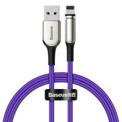 Магнитный кабель для зарядки iPhone Baseus Zinc Magnetic Cable for Lightning (Charging only) 2A 1m Purple