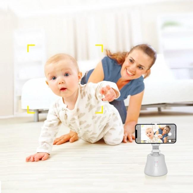 Smart Phone Tripod with Motion Sensor Baseus 360 AI Following Shot Tripod Head White