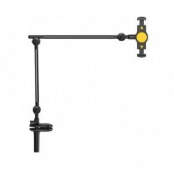 Универсальный держатель (крепление) для телефона или планшета Remax RM-C07 Aluminum Alloy, Cantilever Holder Black