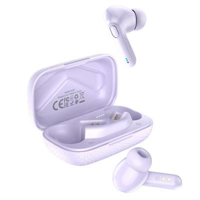 Беспроводные Bluetooth наушники Hoco ES59 Gratified TWS wireless headset с зарядным кейсом Purple