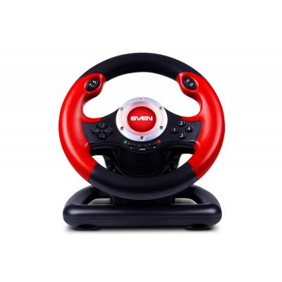 Игровой руль с поддержкой Windows (педали в комплекте) Sven GC-W400 USB Black-Red