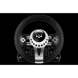 Игровой руль с поддержкой Windows и рычагом переключения передач (педали в комплекте) Sven GC-W700 USB Black