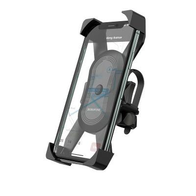 Вело-мото держатель телефона на руль Borofone BH15 Le tour one-button Black