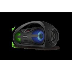 Портативная Bluetooth колонка с подсветкой Sven PS-425 (USB, AUX, FM-радио) Black