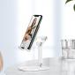 Подставка (держатель) для телефона или планшета на стол Hoco PH34 Excelent double folding desktop stand White
