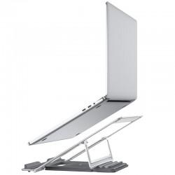 Металлическая подставка под ноутбук Hoco PH37 Excellent aluminum alloy folding laptop stand Silver