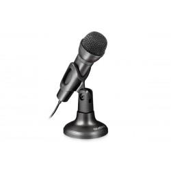 Настольный проводной микрофон с подставкой Sven MK-500 (mini-jack 3,5 мм 3 pin) Black