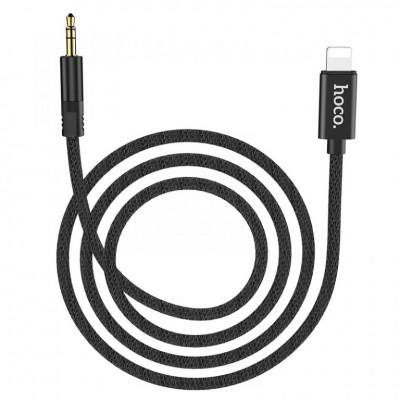 Аудио кабель Hoco UPA13 для iPhone AUX Sound source series Apple digital audio (3.5mm to Lightning) Black