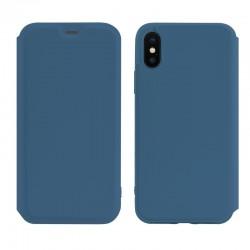 Чехол-книжка Hoco Colorful series liquid silicone для Apple iPhone XS Max Blue