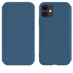 Чехол-книжка Hoco Colorful series liquid silicone для Apple iPhone 11 Blue