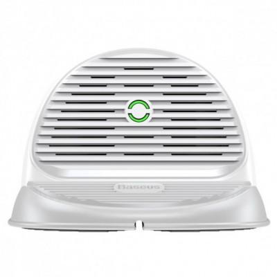 Беспроводная зарядка Baseus Silicone Horizontal Desktop Wireless Charger White