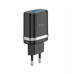 Сетевое зарядное устройство Hoco C12Q Smart QC3.0 Black