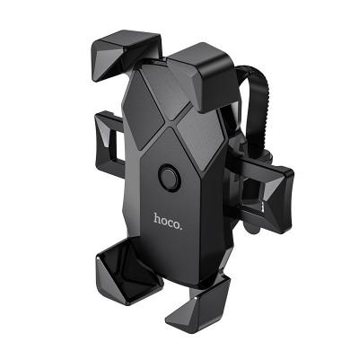 Держатель телефона на руль велосипеда или мотоцикла Hoco CA58 Light ride one-button Black