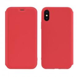 Чехол-книжка Hoco Colorful series liquid silicone для Apple iPhone X/XS Red