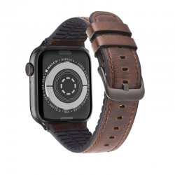 Kожаный ремешок Hoco WB18 Fenix leather strap для Apple Watch Series 1/2/3/4/5 (38/40mm) Dark Coffee