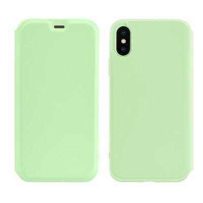 Чехол-книжка Hoco Colorful series liquid silicone для Apple iPhone X/XS Green