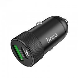 Автомобильное зарядное устройство Hoco Z32B Speed up PD+QC3.0 Black