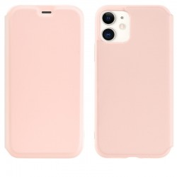 Чехол-книжка Hoco Colorful series liquid silicone для Apple iPhone 11 Pink