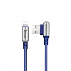 Кабель Hoco U17 USB Lightning Capsule 1.2M Blue