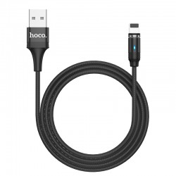 Кабель Hoco U76 Fresh magnetic Lightning 1.2m Black