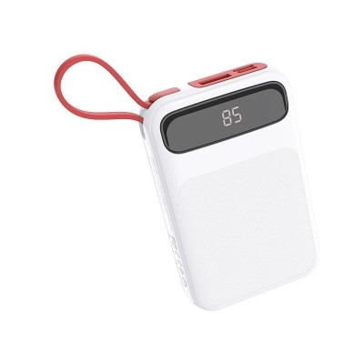 Power Bank Hoco J40 Powerful 10000mAh (с кабелем Lightning) White