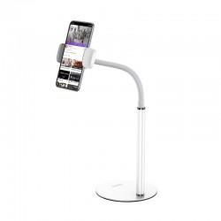 Настольный держатель для телефона Hoco PH28 Soaring metal desktop stand White