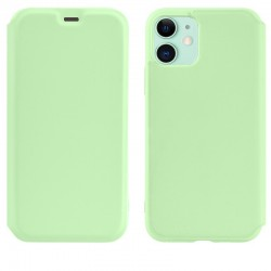 Чехол-книжка Hoco Colorful series liquid silicone для Apple iPhone 11 Green