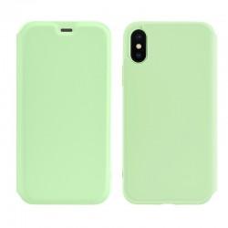Чехол-книжка Hoco Colorful series liquid silicone для Apple iPhone XS Max Green