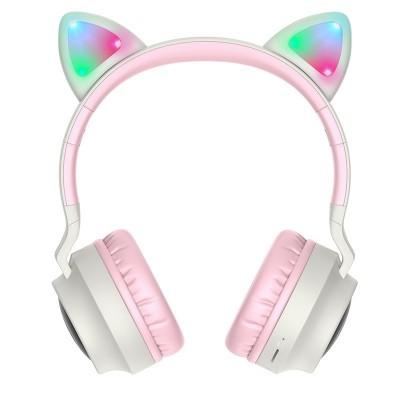 Беспроводные наушники с кошачьими ушками Hoco W27 Cat ear Grey