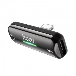 Переходник Hoco LS27 Apple Dual Lightning digital audio converter Gray