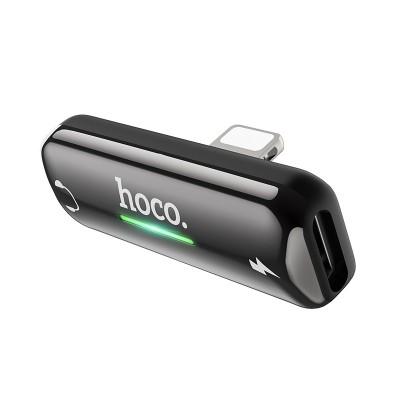 Переходник Hoco LS27 Apple Dual Lightning digital audio converter Gray