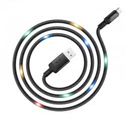 Кабель Hoco U63 Spirit MicroUSB 1.2m Black