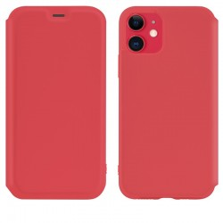 Чехол-книжка Hoco Colorful series liquid silicone для Apple iPhone 11 Red