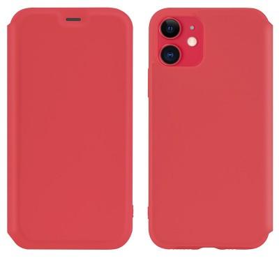 Чехол-книжка Hoco Colorful series liquid silicone для Apple iPhone 11 Red