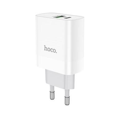Сетевое зарядное устройство Hoco C80A Rapido PD+QC3.0 charger White