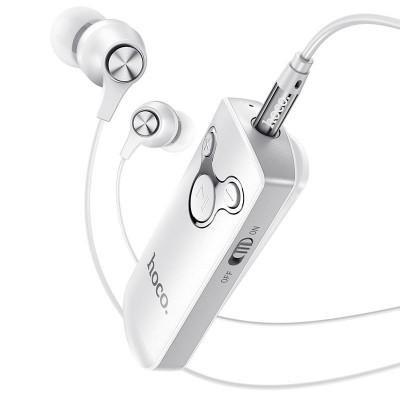 Bluetooth аудио ресивер (адаптер) с наушниками Hoco E52 White