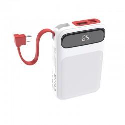 Power Bank Hoco J40 Powerful 10000mAh (с кабелем MicroUSB) White