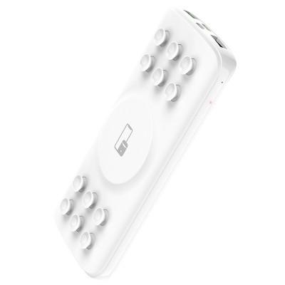 Power Bank с присосками и беспроводной зарядкой Hoco J56 Sea power 10W wireless (10000mAh) White