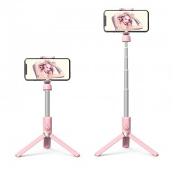 Монопод для селфи Hoco K11 Wireless tripod Pink