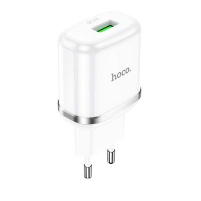 Сетевое зарядное устройство Hoco N3 Special single port (1USB, QC3.0) White