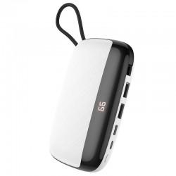 Power Bank Hoco S29 Nimble mobile power 10000mAh (с кабелем MicroUSB) White